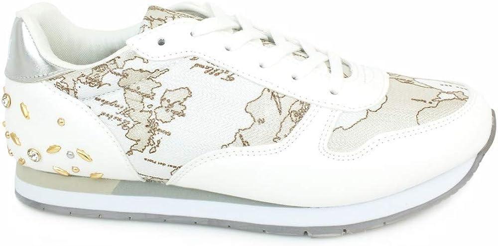 Alviero martini 1° classe, scarpe sneakers per donna, in pelle stampata geo classic P3A4-10212-0208X842