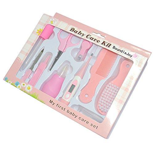 Baby Grooming Kit BoundleJoy Pasgeboren Manicure Set Professionele Aanbiddelijke Veilige Schaar Nagel Clippers Zachte borstel roze