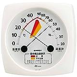 エンペックス気象計 温度湿度計 食中毒注意計 壁掛け用 日本製 ホワイト TM-2511