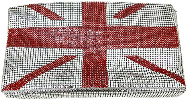 ASHIJIN Boutique National Flag Aluminum Clutches Fashion Day Womens Casual Handbag Bag Evening Envelope