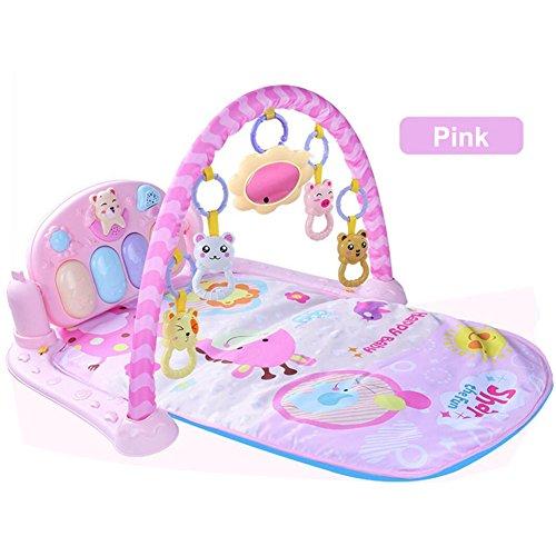 Baby-Kick und Play Piano Gym Infant Musical Activity Spieldecke Licht und Sound Play Matte Discovery Teppich mit Spiegel und hängende Spielzeuge