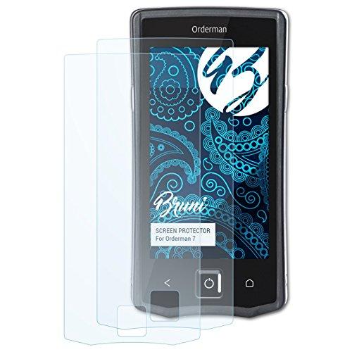 Bruni Schutzfolie kompatibel mit Orderman 7 Folie, glasklare Bildschirmschutzfolie (2X)