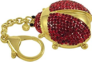 Crystal Keychain Red and Gold