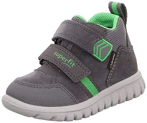 Superfit Baby-Boys Sport7 Mini Gore-Tex Sneaker, (Grau/Grün 20), 26 EU