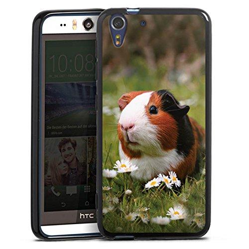 Silikon Hülle kompatibel mit HTC Desire Eye Case schwarz Handyhülle Hamster Tiere Meerschweinchen