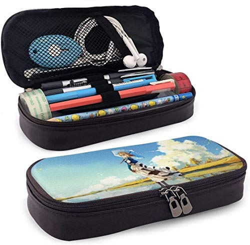 Astucci Portapenne Pencil Case Big Capacity High Capacity Pen Pencil Pouch Box Organizer Portable Bag Holder with Zipper - Anime Violet Evergarden Beautiful Scenery