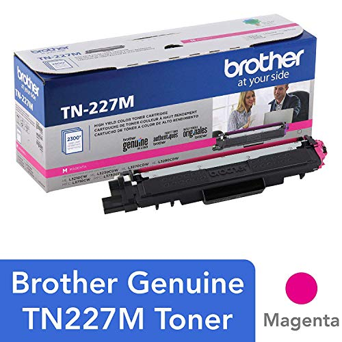 Genuine , High Yield Toner Cartridge, Replacement Magenta Toner, Page Yield Up to 2,300 Pages, TN227, Amazon Dash Replenishment Cartridge - Brother TN227M
