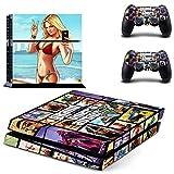XIANYING Grand Theft Auto V GTA 5 Ps4 Pegatina de Piel para Consola Playstation 4 y 2 Controladores Ps4 Pegatina de Piel de Vinilo