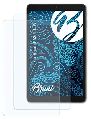 Bruni Schutzfolie kompatibel mit Alcatel A3 10 Wi-Fi Folie, glasklare Bildschirmschutzfolie (2X)