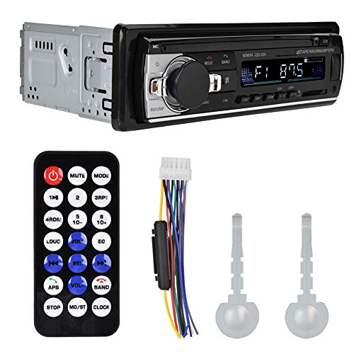 Tosuny Auto-MP3-speler, bluetooth-autoradio-ontvanger verliesvrije muziek audio-speler auto Bluetooth 4.0 AUX-ingang FM-zender met uitschakelbeveiliging