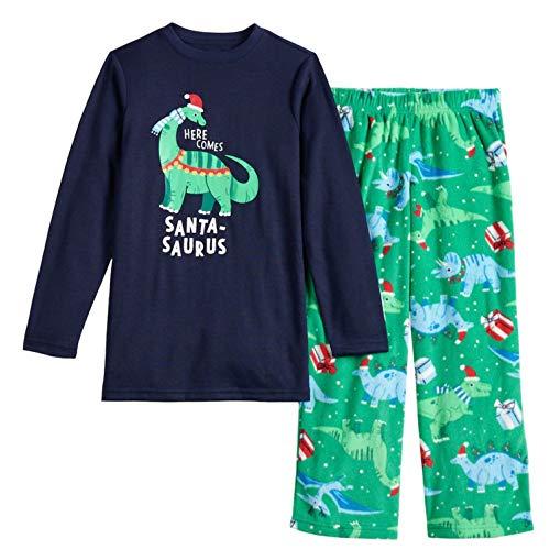 Weihnachtliches Familien-Pyjama-Set mit Dinosaurier-Druck,...