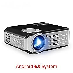 Toshani T-07 Full HD Android Projector 3200 Lumens led Portable WiFi Projector with HDMI / AV / VGA / USB / TV(Black)