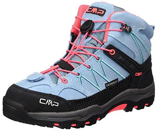 CMP Rigel Mid Wp Unisex-Kinder Trekking-& Wanderschuhe, Türkis (Clorophilla-Red Fluo), 28 EU