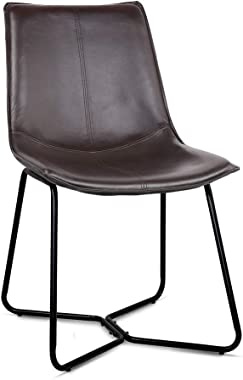 Artiss Leather Upholstered Dining Chairs Set of 4 - Walnut