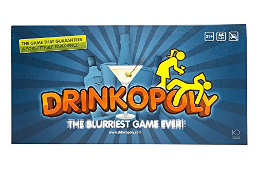 Drinkopoly – The King of Drinking Games – Combined Board/Table Party Games for Adults and Students with 50 Expansion Cards with Tasks, A Drinking Game Gift Set, English Manuals