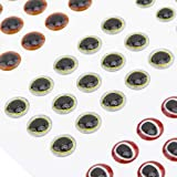 OriGlam - Señuelo de pesca (183 unidades, 2D/3D, realista, ojos falsos tamaños 3/4/5/6 mm)