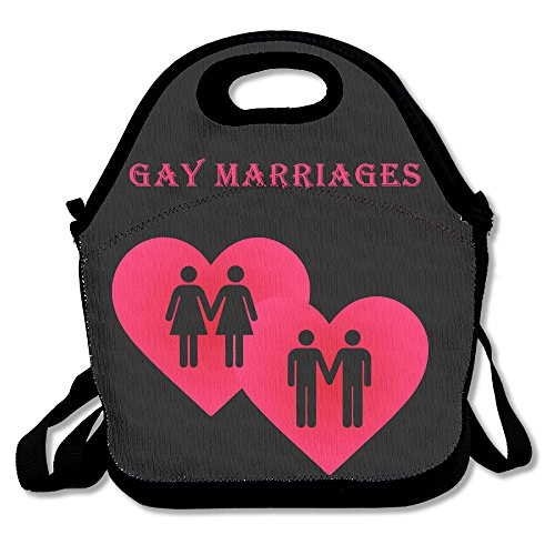 Gay mariages déjeuner Sac fourre-tout Boîte à lunch pour l'école d'extérieur