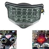 MZS バイク FZ-6 LEDテールライト ウィンカー ブレーキランプ 用 ヤマハ FZ6 Fazer フェザー 600 RJ07 RJ14 04-09年 スモーク