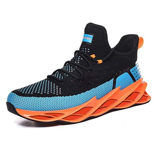 Zapatillas De Deporte para Hombre- Zapatillas Deportivas Transpirables Tejidas Con Mosca Informales para Hombre, Zapatillas De Tenis para Caminar, Zapatillas De Deporte para Baloncesto Al Aire Libre