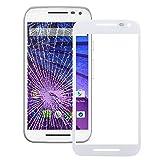 JIANGHONGYANYA Accesorios para Celular Lente de Vidrio Exterior de Pantalla Frontal for Motorola Moto G (3ra generación) (Color : Blanco)