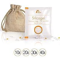 Amazy Paquetes de Gel de Silice – Bolsas absorbentes de Humedad, desecantes y Reutilizables – 20 x 10 g