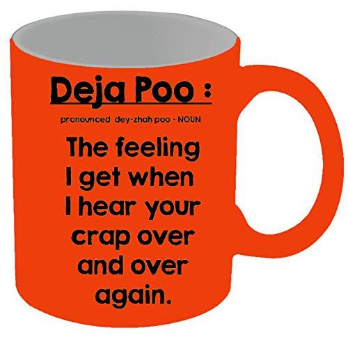 Daja Poo Tasse, Keramik, 325 ml, Neonorange