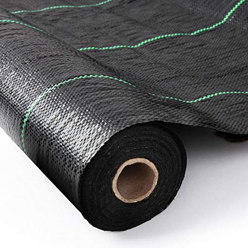 Weed Barrier Heavy Duty Weed Control and Ground Membrane Garden Liner Control Fabric Sheet, Landscape and Weed Control Fabric (Folded 2mx10m)