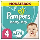 Pampers Baby Dry Windeln, 4 (7-8 kg), 174 Stück