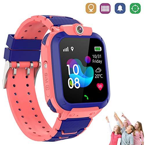 Reloj Inteligente Niños con Smartwatch Niños Llamadas Reloj Deportivo Niño Pulsera de Actividad Inteligente Niños (9B09308 Rosa)