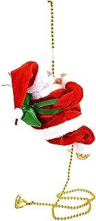 Jul Ladder Santa Claus Electric Climbing Figurprydnad Hängande dekoration Gåva för inomhus Utomhus Jul Ladder Santa