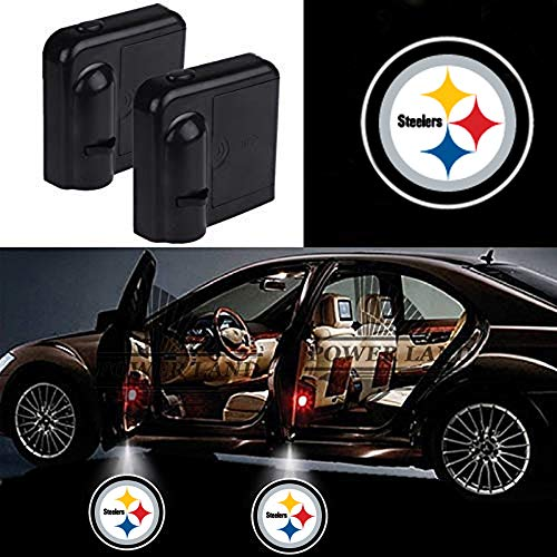 For Pittsburgh Steelers Car Door Led Welcome Laser Projector Car Door Courtesy Light Suitable Fit for all brands of cars