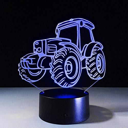HGFHGD Lámpara de Mesa del Regalo de la decoración del Tractor USB...