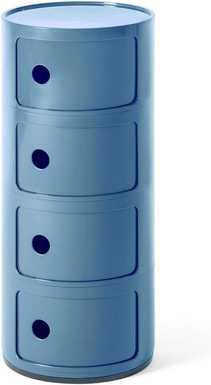 Kartell Componibili Container, Plastik, Blau, 32 x 32 x 77 cm