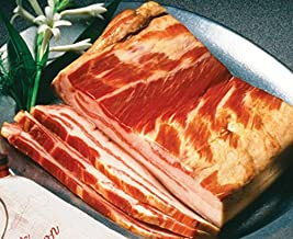 Smithfield Country Cured Slab Bacon in a Burlap Bag - Flavor: Country Cured Quarter Slab Bacon Unsliced: 2lbs