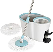 Mop,360 Spin Mop Stainless Steel Drainage Basket Mop and Buckets Sets Spinning System Household Cleaning Tools