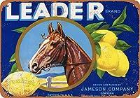 リーダーレモン、ブリキの看板、ヴィンテージ鉄の絵の金属板ノベルティ装飾クラブカフェバー