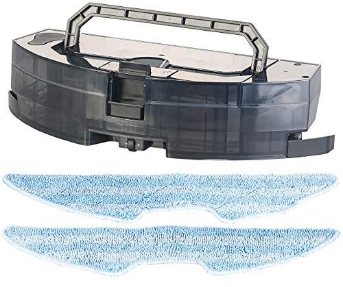 Sichler Haushaltsgeräte Zubehör zu Teppichsauger: Elektronischer Wassertank & 2 Wischtücher für WLAN-Staubsauger-Roboter (Saugroboter)