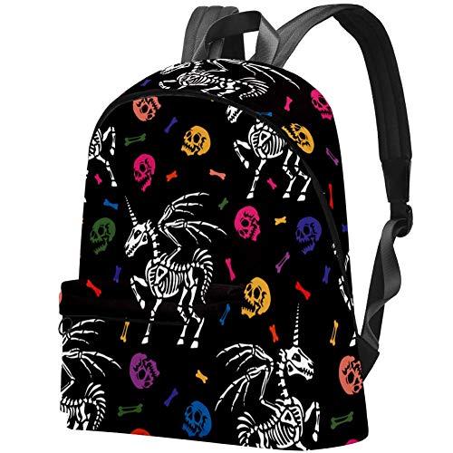 Skelett eines Pegasus Reise Laptop Rucksack College Schule Freizeit Tasche für Damen und Herren
