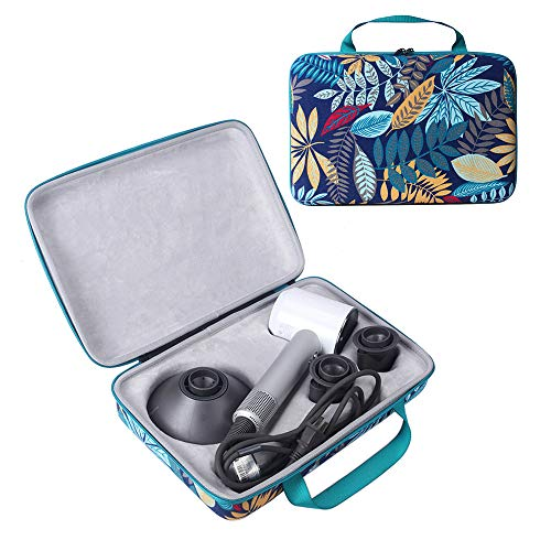 HIJIAO Colorful Hard Traveling Case for Dyson Supersonic Hair Dryer