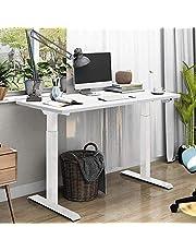 SANODESK Basic Line - elektrisch traploos in hoogte verstelbaar bureau met bescherming tegen botsingen, geheugenbesturing en softstart/stopfunctie