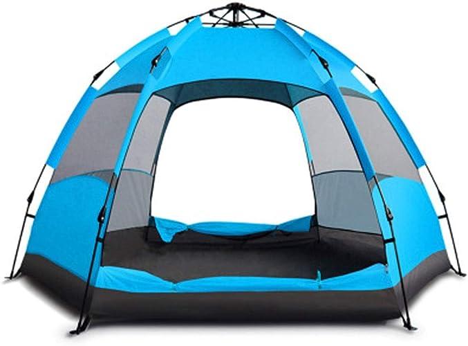 Tent, rainproof sunscreen Double épaississement portatif extérieur portatif instantané instantané de Tente Anti-Pluie imperméable UV pour la randonnée de Camping Plage de pêche, Bleu