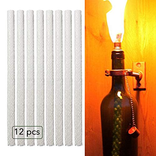 Glass Fiber Tiki Wick Replaces Fiber Wick with Long-Life Glass Wick for Courtyard Terrace Lighting, Outdoor Garden Light, Oil Lamp, Torch Wick.