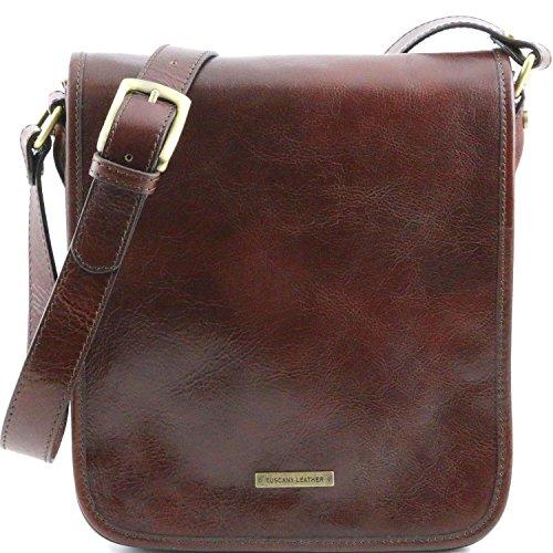 Tuscany Leather - TL Messenger - Borsa a tracolla 2 scomparti Marrone - TL141255/1