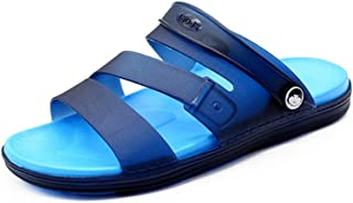 Xujw-shoes, Sandals Summer Beach Open Toes Rubber Removable Ankle Strap for Men Slip On Style Waterproof Shoes Durable