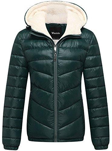 Wantdo Abrigo Entretiempo Aviador Casual Invierno Mujer Verde Militar Medium