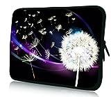 Luxburg® Design Laptoptasche Notebooktasche Sleeve für 12,1 Zoll (auch in 10,2 Zoll | 12,1 Zoll | 13,3 Zoll | 14,2 Zoll | 15,6 Zoll | 17,3 Zoll), Motiv: Pusteblume