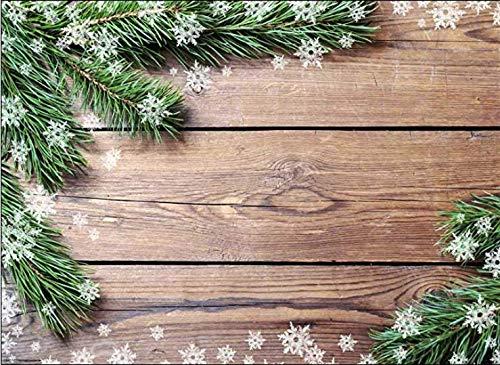 Tischsets I Platzsets - Tannenzweige auf Holztisch - 12 Stück - neutral und passt zur jeder Weihnachtsfeier. Die besondere Tischdekoration für die Adventszeit, Weihnachten und Jede Weihnachtsfeier