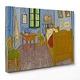 Cuadro sobre lienzo Canvas–ConKrea–Listo para colgar–Van Gogh–Vincents Bedroom at Arles–La...