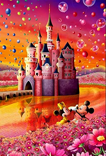 Mickey Mouse and Minnie's Castle Collection 1000 Piece DisneyJigsaw Puzzle for Kids-Every Piece is Unique Learning Educational Puzzles Toys,1000 Pieces (Disney 1)