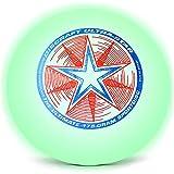 Discraft Ultra-Star 175g Ultimate Disc + Free Mini Frisbee + Ultimate Disc Sticker (USA Ultimate Approved) - Glow
